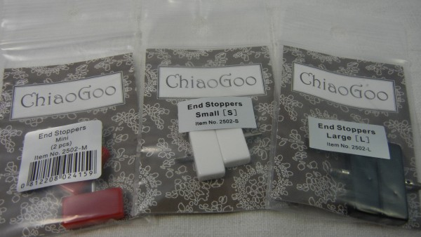 ChiaoGoo je 2 End Stoppers im Set, Mini Small oder Large